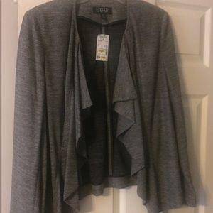 Gray ruffled jacket - new with tags